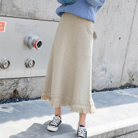 skirt Winter 2020 S,M,L,XL,XXL Apricot, black 25-29 years old