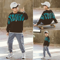 suit Babybody Black blue 120cm 130cm 140cm 150cm 160cm 170cm male spring and autumn Korean version Long sleeve + pants 2 pieces routine There are models in the real shooting Socket nothing other children Giving presents at school C21063 Class B Other 100% Spring 2021 Chinese Mainland Huzhou City
