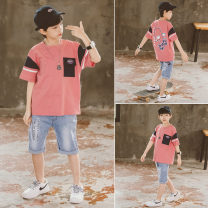 suit Babybody Pink Black 120cm 130cm 140cm 150cm 160cm 170cm male summer Korean version Short sleeve + pants 2 pieces routine There are models in the real shooting Socket nothing cotton children Giving presents at school X21185 Class B Other 100% Summer 2021 Chinese Mainland Zhejiang Province