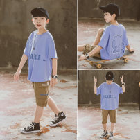 suit Babybody Pink light blue 120cm 130cm 140cm 150cm 160cm 170cm male summer Korean version Short sleeve + pants 2 pieces routine There are models in the real shooting Socket nothing other other children Giving presents at school X21115 Class B Other 100% Summer 2021 Chinese Mainland Huzhou City