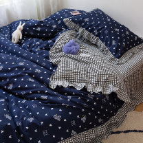 Bedding Set / four piece set / multi piece set Polyester (polyester fiber) other letter 128x68 Other / other Polyester (polyester fiber) 4 pieces 40 Hyy Lace - small target Bed sheet, bed skirt Qualified products Korean style twill Reactive Print  Hyy Lace - small target Thermal storage other