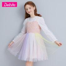 Dress Pink vision Blue Pink Purple female Deesha / Desha 110cm 120cm 130cm 140cm 150cm 160cm Other 100% spring and autumn princess Short sleeve other other A-line skirt Class B Winter 2020 Six, seven, eight