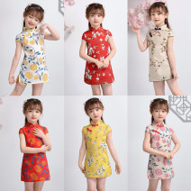 cheongsam 90,100,110,120,130,140 Cotton 95% polyurethane elastic fiber (spandex) 5% There are models in the real shooting summer Broken flowers Pure cotton (95% and above) Class B Three, four, five, six, seven, eight, nine, ten, eleven, twelve