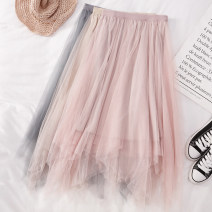 skirt Spring 2021 Average size Black, apricot, gray, khaki, pink Mid length dress Versatile High waist Irregular Solid color Type A 25-29 years old Q934 81% (inclusive) - 90% (inclusive) other Other / other other