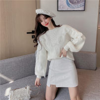 Fashion suit Spring 2021 S. M, l, average size Pink, violet, apricot white, off white small leather skirt 18-25 years old 51% (inclusive) - 70% (inclusive) polyester fiber