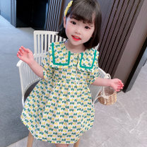 Dress White, purple, green female The only baby 80cm 90cm 100cm 110cm 120cm 130cm Other 100% spring and autumn Korean version Long sleeves Broken flowers other A-line skirt other Spring 2021 They were 2 years old, 3 years old, 4 years old, 5 years old, 6 years old, 7 years old and 8 years old