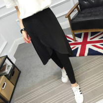 Leggings Summer of 2019 black M,L,XL,2XL,3XL Thin money trousers YX-081 18-24 years old pure cotton