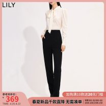 Casual pants 510 black 150/58A/XS 155/62A/S 160/66A/M 165/70A/L 170/74A/XL 175/78A/XXL Spring 2021 trousers Pencil pants High waist commute routine 25-29 years old 91% (inclusive) - 95% (inclusive) Lily / Lily polyester fiber Ol style zipper Same model in shopping mall (sold online and offline)