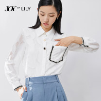 Lace / Chiffon Spring 2021 601 white 127 zinfandai 601 white a 127 zinfandai a 155/80A/S 160/84A/M 165/88A/L 170/92A/XL Long sleeves commute Cardigan singleton  easy Regular Polo collar shirt sleeve 25-29 years old Lily / Lily 121149C4931 Tassel pocket button lace Ol style Polyester 100%