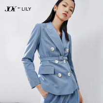 suit Spring 2021 401 blue (top) 401 blue (trousers) 401 blue a 401 blue AA 155/80A/S 160/84A/M 165/88A/L 170/92A/XL Long sleeves routine Self cultivation Refutation double-breasted commute routine Solid color 121129C2927401 25-29 years old 51% (inclusive) - 70% (inclusive) polyester fiber Lily / Lily