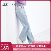 Jeans Spring 2021 419 denim blue 419 denim blue a 150/58A/XS 155/62A/S 160/66A/M 165/70A/L 170/74A/XL trousers High waist Wide legged trousers routine 25-29 years old washing Cotton denim light colour 121109GJ913419 Lily / Lily Cotton 100% Same model in shopping mall (sold online and offline)