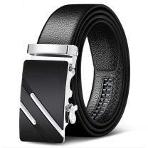 Belt / belt / chain Pu (artificial leather) currency belt Automatic buckle alloy 3.5cm Black sports car 120cm
