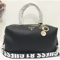 Bag The single shoulder bag PU Boston Bag brand new Fashion trend large leisure time soft zipper no Solid color Single root One shoulder cross carry nothing youth Pillow shape letter Handling handle polyester cotton synthetic leather set-in pocket