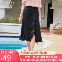 skirt Summer 2020 160/68A/M,175/80A/XXL,155/64A/S,150/60A/XS,165/72A/L,170/76A/XL Tibetan, plum Mid length dress High waist Solid color Type A 25-29 years old S910742Q00 More than 95% other Tricolor other Lotus leaf edge