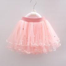 Dress female Yingyingbeibei Viscose (viscose) 100% No season Korean version Petticoat Solid color Cotton blended fabric Cake skirt Class B Chinese Mainland