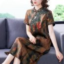 Dress Summer 2021 Decor 2XL 3XL 4XL L XL Mid length dress singleton  Short sleeve commute Decor 35-39 years old Youranxu / youranxuan Retro 8838-1 More than 95% other Other 100%