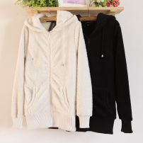 Sweater / sweater Spring 2016 Black, beige, beige, black (blemish) M, L Long sleeves routine Cardigan singleton  thickening Hood Straight cylinder Solid color Other / other 024-21F00