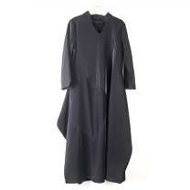 Dress Winter 2020 black 165/88A Mid length dress singleton  Long sleeves commute V-neck routine Others Type A Other / other Britain