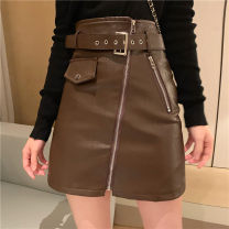 skirt Summer of 2019 S. M, l, average size Leather skirt black, leather skirt khaki, black jacket, green jacket 18-24 years old Other / other