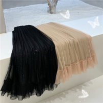 skirt Summer 2020 Average size Mid length dress grace Natural waist Pleated skirt Type A 18-24 years old 6009# 30% and below Other / other polyester fiber Gauze