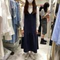 Dress Spring 2021 Sapphire blue, apricot, black Average size 0314-21226