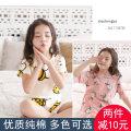 Home suit Adubi Size 100 (85-95), Size 110 (95-105), Size 120 (105-115), Size 130 (115-125), size 140 (125-135), size 150 (135-145), size 160 (145-155) and size 165 (155-160) summer female Cotton 95% polyurethane elastic fiber (spandex) 5% cotton Class A