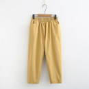 Middle aged and old women's wear trousers Summer of 2019 leisure time easy singleton  Solid color cotton thin 96% and above 19C0068 pocket Other / other Black, yellow, light khaki XL [suggested 105-130 kg], 2XL [suggested 130-150 kg], 3XL [suggested 150-170 kg], 4XL [suggested 170-190 kg] 7 / 9 pants