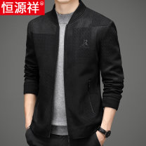 Jacket hyz  Fashion City Y20-35 black y20-34 black 170 175 180 185 190 routine standard Other leisure autumn 20HYX-y20-34 Viscose fiber (viscose fiber) 55% polyester fiber 40% polyurethane elastic fiber (spandex) 5% Long sleeves Wear out Baseball collar Business Casual middle age routine Straight hem