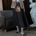 skirt Autumn of 2018 M L Black Unicorn off white doll longuette Retro High waist Type A