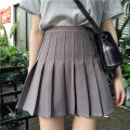 skirt Summer 2020 S, M Gray, white, black Short skirt Versatile High waist A-line skirt Solid color 18-24 years old other Other / other other