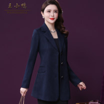 suit Spring 2021 Navy Red M L XL 2XL 3XL 4XL Long sleeves routine Self cultivation tailored collar Single breasted commute routine Solid color W-XY-8561 30-34 years old 96% and above polyester fiber Wang Xiaoya Pleated pockets with three-dimensional decorative buttons Polyester 100%