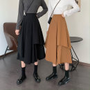 skirt Spring 2021 S M L Black Camel Mid length dress commute High waist Irregular Solid color Type A 18-24 years old 6116# 51% (inclusive) - 70% (inclusive) other Xianweiya polyester fiber Asymmetry Korean version Polyester 62% other 38% Pure e-commerce (online only)