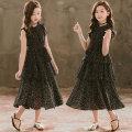 Dress female Other / other 110cm,120cm,130cm,140cm,150cm,160cm,165cm Other 100% summer Korean version Skirt / vest Dot Chiffon Cake skirt Class B Six, seven, eight, nine, ten, eleven, twelve, thirteen, fourteen