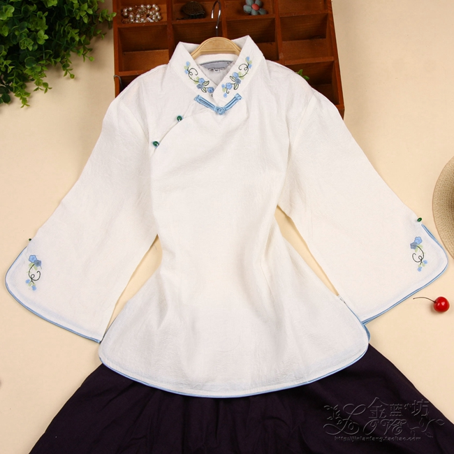 jacket Spring 2016 White single top + dark blue skirt 2XL 3XL M L XL 25-35 years old