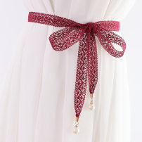 Belt / belt / chain other female belt Versatile Single loop bow Glossy surface 2.5cm 160cm