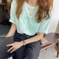 T-shirt White, green, yellow Average size Summer 2021 Long sleeves Crew neck easy Regular routine commute other 30% and below 18-24 years old Korean version youth Solid color