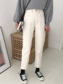 Jeans Spring 2020 Off white S,M,L Ninth pants High waist routine 18-24 years old light colour