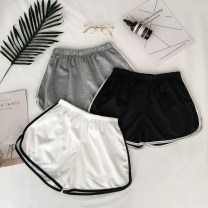 Casual pants Gray, white, black M, L Summer 2020 shorts Wide leg pants Versatile routine 18-24 years old 96% and above BYW330 polyester fiber polyester fiber
