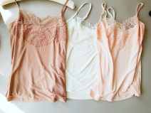 Vest sling Winter of 2019 Milky white, black, rose red, dark nude, soft pink, tea green L,XL singleton  routine Straight cylinder commute camisole Solid color 25-29 years old 91% (inclusive) - 95% (inclusive) Lace