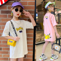 T-shirt Collection + recommendation enjoy priority delivery, white Pikachu T, pink Pikachu t Other / other 110cm, 120cm, 140cm, 150cm, 160cm, 130 [model try on size] female summer Crew neck leisure time cotton Cartoon animation 3, 4, 5, 6, 7, 8, 9, 10, 11, 12, 13, 14, 14 and above