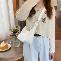 Bag Inclined shoulder bag PU Small square bag Chu AI White, black, brown brand new Japan and South Korea leisure time soft zipper Solid color Single root Straddle shoulder inside pocket with a zipper Artificial leather