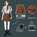 skirt Summer 2021 XS,S,M,L Apricot, Navy, coffee, grey blue, light yellow Short skirt commute High waist Pleated skirt Solid color Type A 18-24 years old 51% (inclusive) - 70% (inclusive) other Other / other other fold