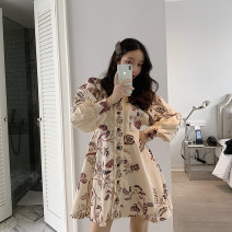 Dress Spring of 2019 Picture color in stock Average size Short skirt Long sleeves