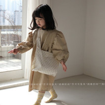 """Dress Brown """"buy 5-20 days from time to time"""", yellow flower """"buy 5-20 days from time to time"""" female Other / other Other 100% spring and autumn Korean version Long sleeves Solid color other A-line skirt"""