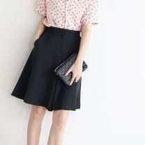 Casual pants black S,M,L,XL Summer of 2019 Pant Wide leg pants High waist commute routine 96% and above other Ol style
