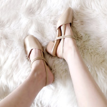 Sandals 33 34 35 36 37 38 39 40 Guaranteed return for bought freight insurance Other / other Superfine fiber Baotou Thick heel Middle heel (3-5cm)