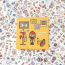 Stickers Paper dyeing Soft cloakroom Soft cloakroom Sticker Set 100 sheets decorate