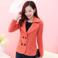woolen coat Autumn 2020 S,M,L,XL,XXL wool 30% and below have cash less than that is registered in the accounts Long sleeves commute double-breasted routine Solid color Self cultivation Korean version Bows, pockets, buttons Solid color polyester fiber
