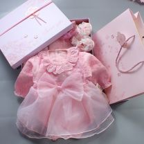 Dress female Other / other 50 yards 0-2 months, 60 yards 3-5 months, 70 yards 6-8 months, 80 yards 9-12 months Cotton 100% spring and autumn princess Long sleeves Solid color Pure cotton (100% cotton content) other Q-011 Class A 3 months, 12 months, 6 months, 9 months