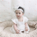 Dress female Other / other 66cm,73cm,80cm,90cm Cotton 95% other 5% summer Europe and America Short sleeve Solid color cotton Princess Dress Class A 3 months, 12 months, 6 months, 9 months, 18 months Chinese Mainland